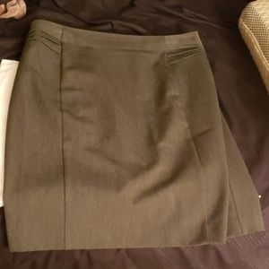 Express Size 12 Business Skirt Gray